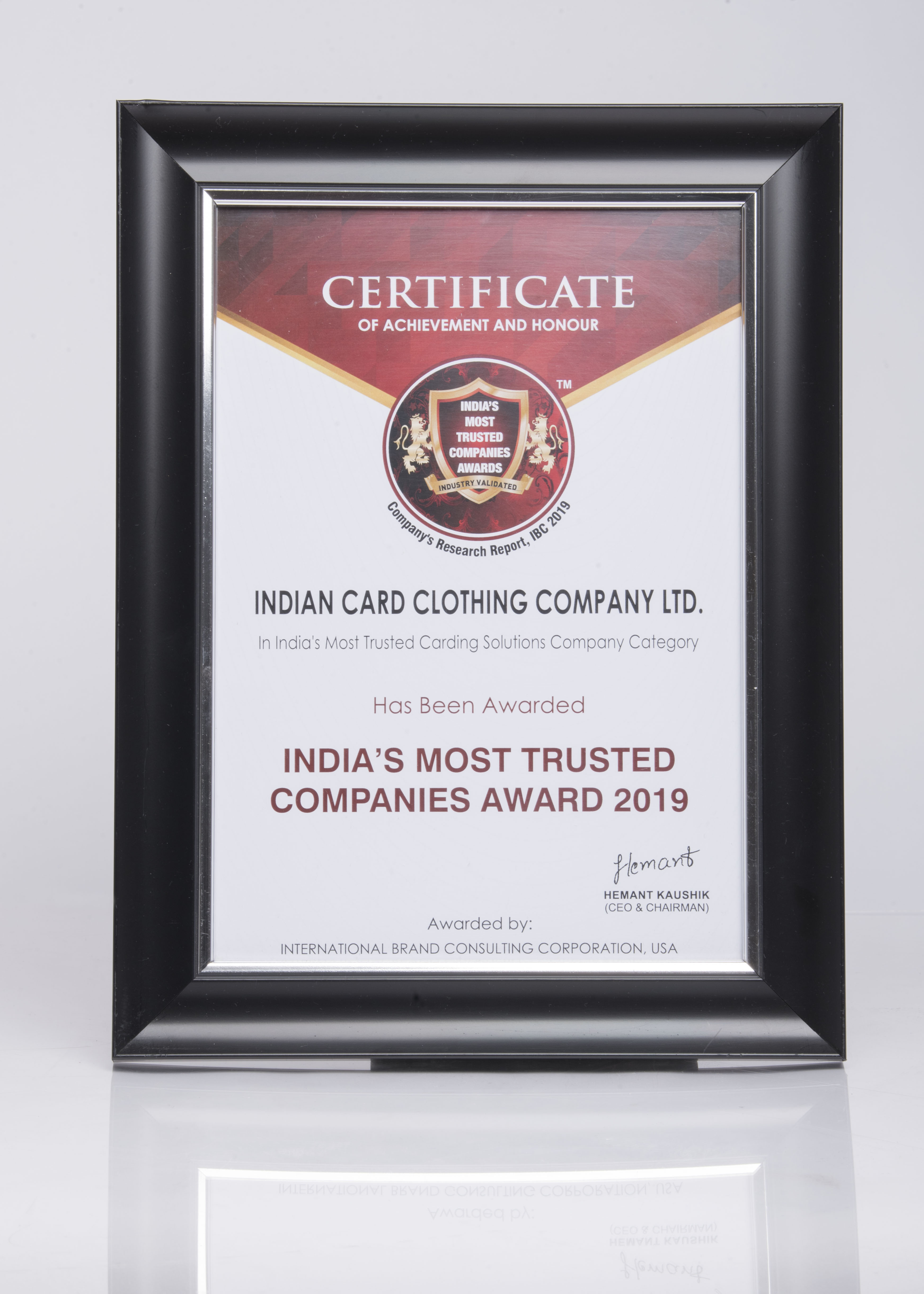 India's Most trusted company 2019