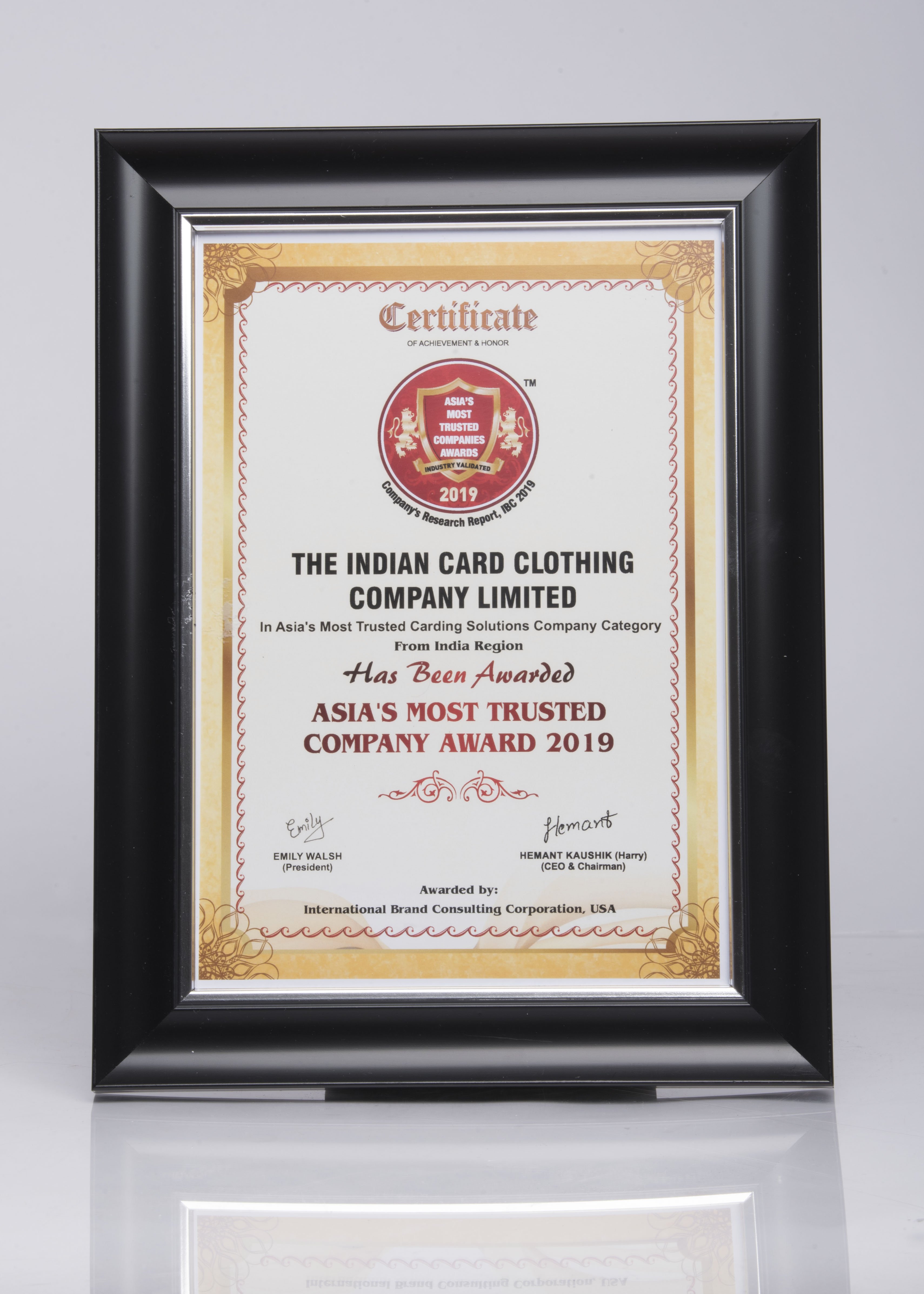 Asia's Most trusted company 2019