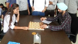 Chess competition between employees in ICC, Nalagarh Plant.