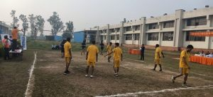 Vollyball Competition organized by ICC for employees on sports day.