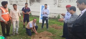 Plantation of sapling by Nitin Latkar, VP SCM