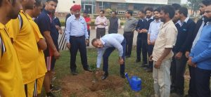 Plantation of sapling by Mehul Trivedi – Vice Chairman