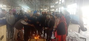 Kamaljeet Singh – VP Operation performing Pooja rituals in Plant along with other team members.