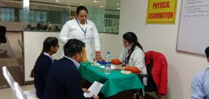 Annual Health Check-up for employees at ICC.