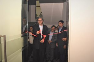 Chairman inaugurating new office at Bhosari.